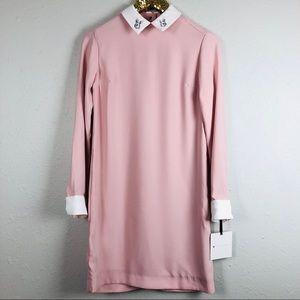 Victoria Beckham Rabbit Pointed Collar Dress